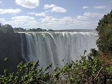 The Victoria Falls contain the largest sheet of falling water in the world in terms of area.