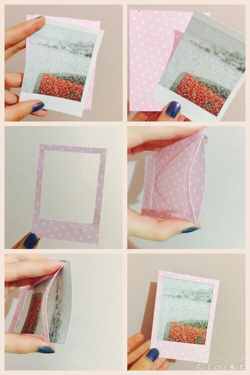 This is for Polaroids or normal photos if you would like the change the look of the frame. For more ideas on frames for Polaroids stay to look at the end of this post and find digital frame pictures.