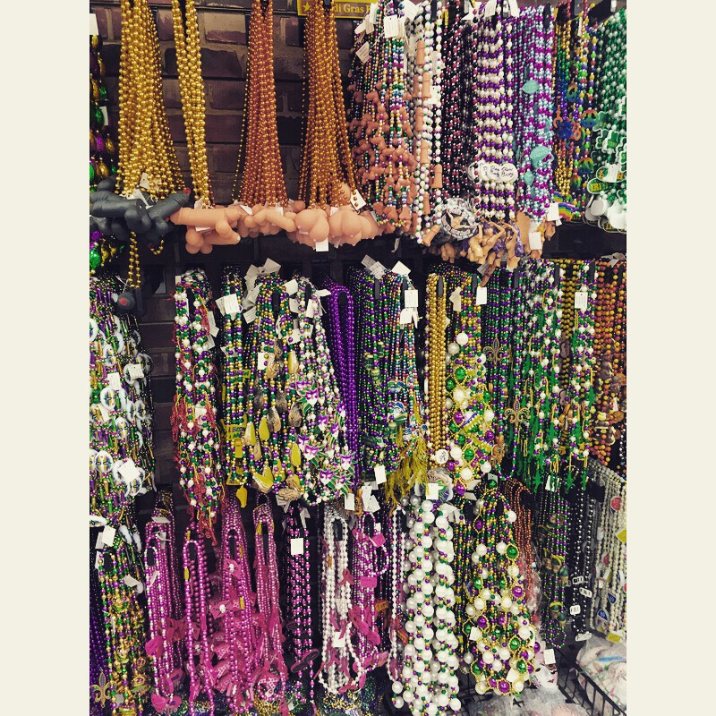 2. Earn some beads! 😉 (Pictured: in New Orleans)