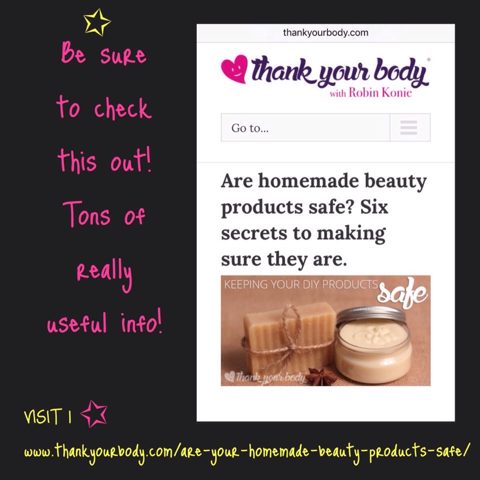 Finally, be smart about how you make your own beauty products. You can read this post (URL at bottom of imagen) on some ways to make sure your homemade beauty products remain safe. But even beyond the basics, don't forget common sense: If you're allergic to any ingredient, DON'T USE IT! If something smells bad… throw it out. If you don't like it, try something else.  REMEMBER | Exploring + experimentation is ½ the fun!