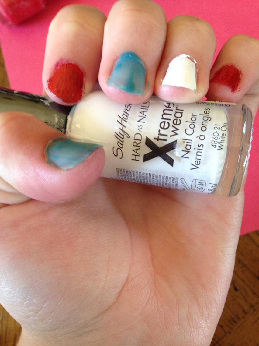 Paint this nail white.
