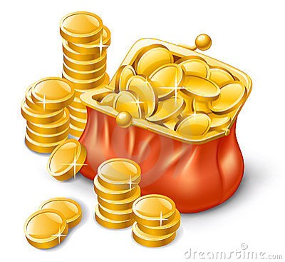 Next get a coin from your purse that is worth picking up