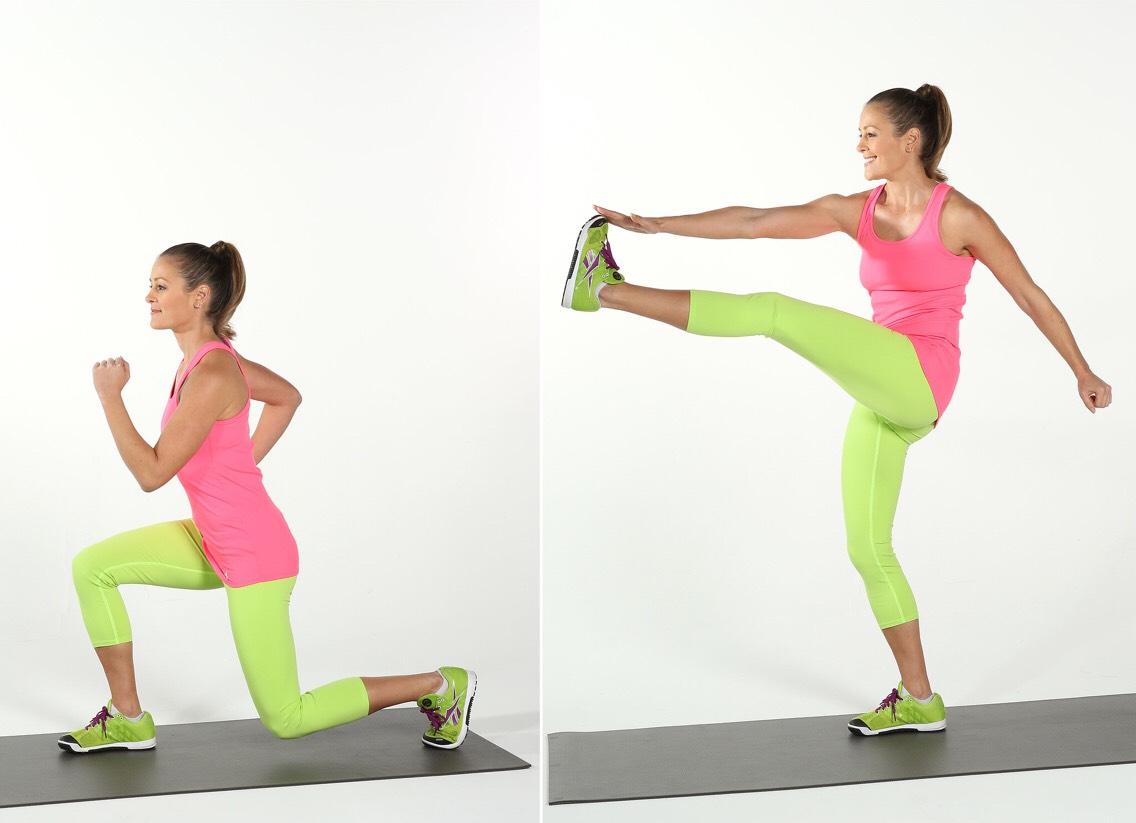 Lunge kick front  10 each leg