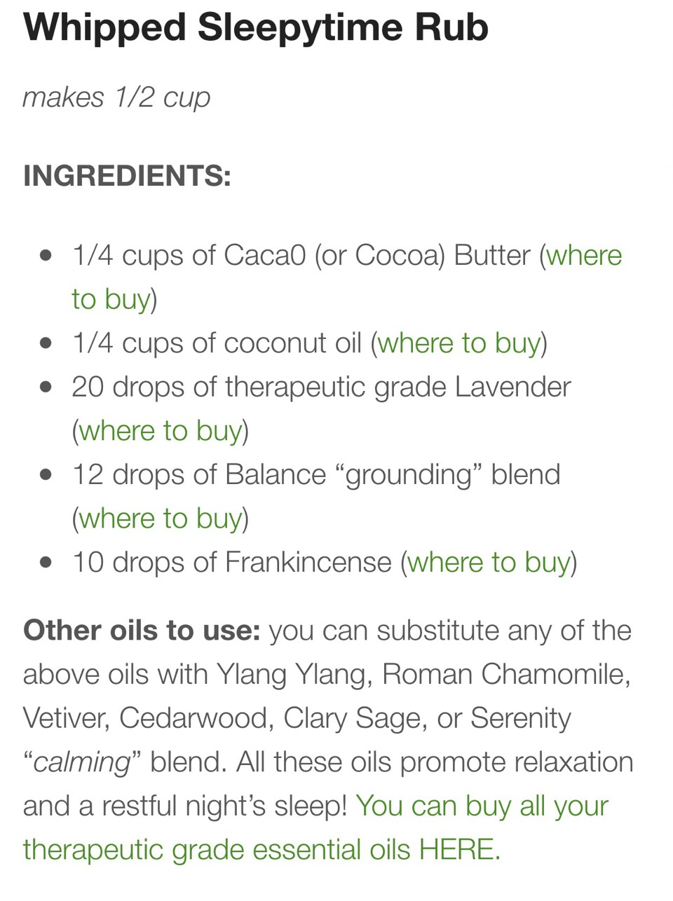 Link to purchase oils: ✨http://thepaleomama.com/essential-oils/✨