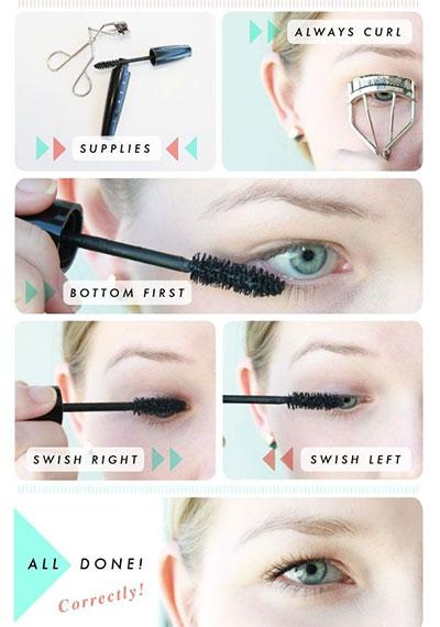 Applying mascara is usually pretty easy but here are some tips for getting the perfect lashes.