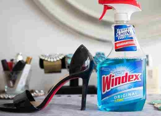 15. Make patent leather shoes shiny again with a little bit of glass cleaner.