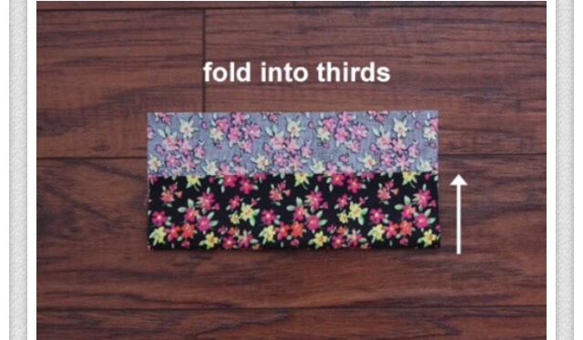 Fold it in to thirds
