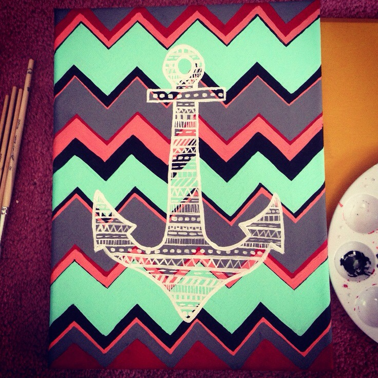 Painting anchors on bags or on a canvas or anything else can remind you of the beach
