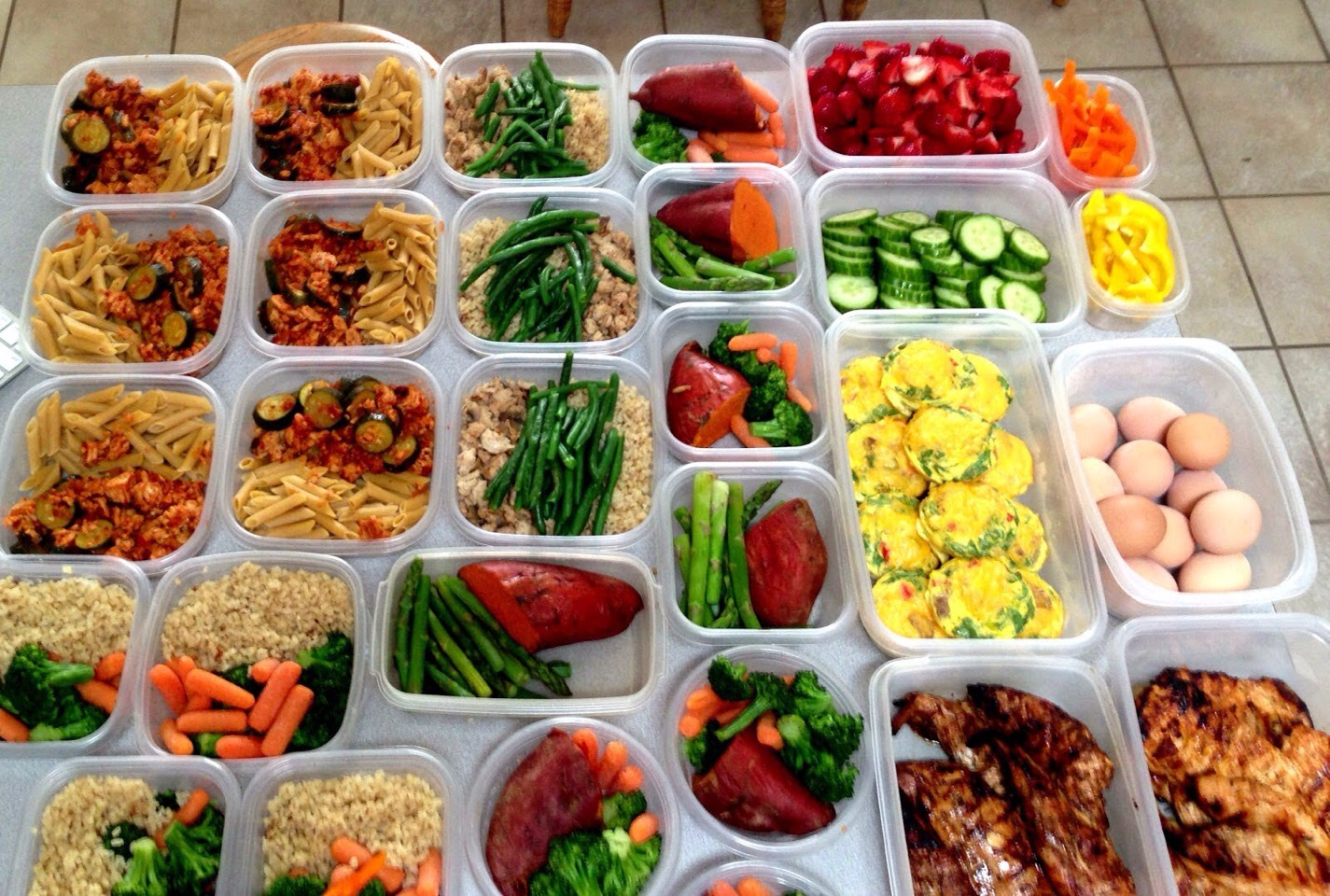 Meal prep - Always prepare all your meals on Sunday . So therefore you can't say oh I didn't have time to make it , that's why I grabbed the unhealthy stuff .