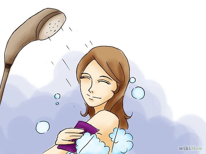 Before school have a shower wash your hair and skin and when applying your make up try to use a waterproof mascara and setting powder