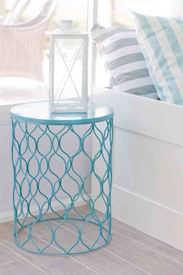 Turn a cute trash and upside down to make it into an even cuter nightstand.