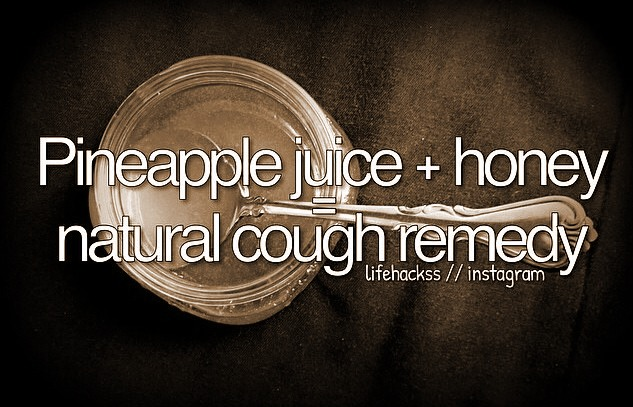 Pineapple juice + honey = Natural cough medicine