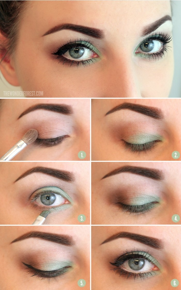 Use a brighter green then the color of your eye