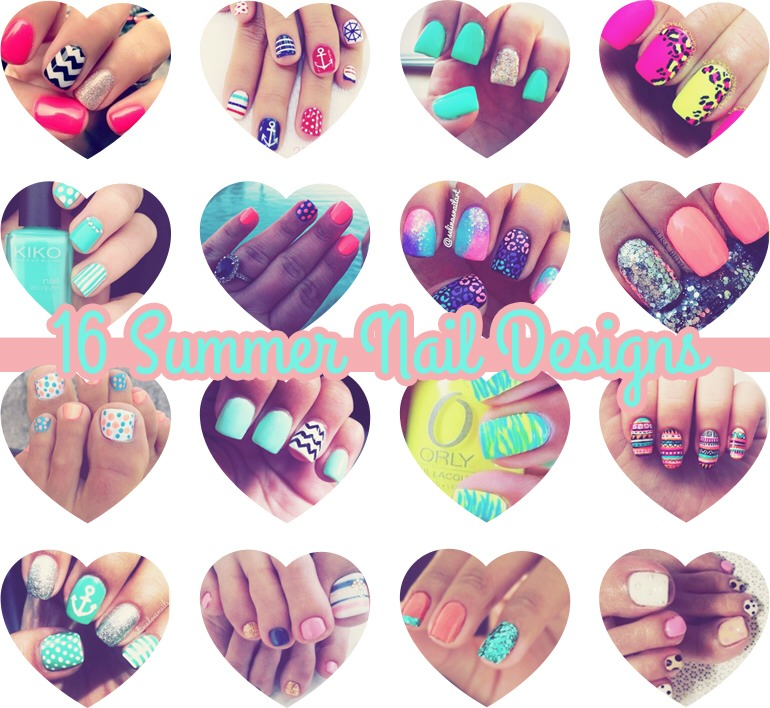 Here are some cute nails to give you ideas for your summer nails!!!