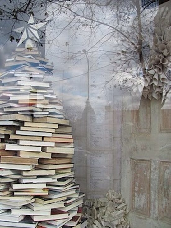 Book Tree  Such a beautiful book display! Created by a small bookshop in Bethlehem Pennsylvania.