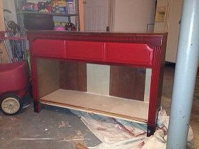 Painted with red chalk paint