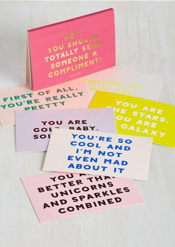 9. A booklet of compliments: