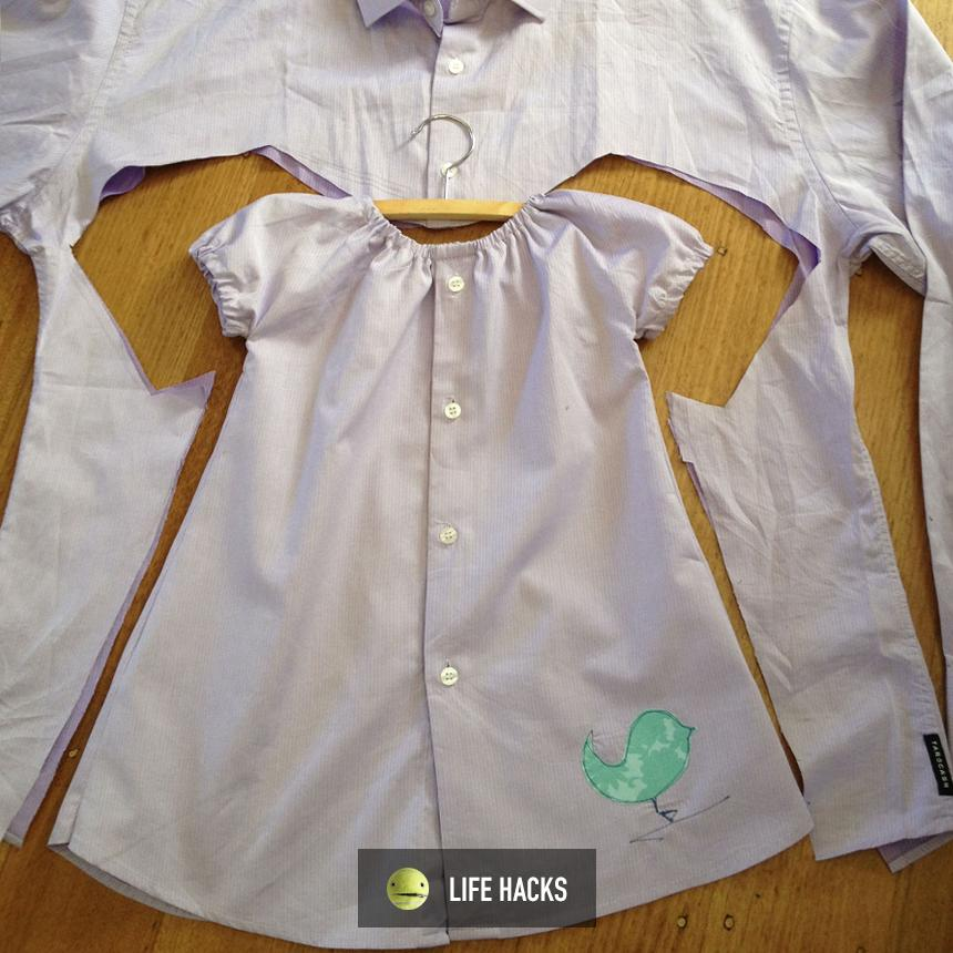 "Becomes baby's new dress  (\__/) (='.'=) ("")_("")"