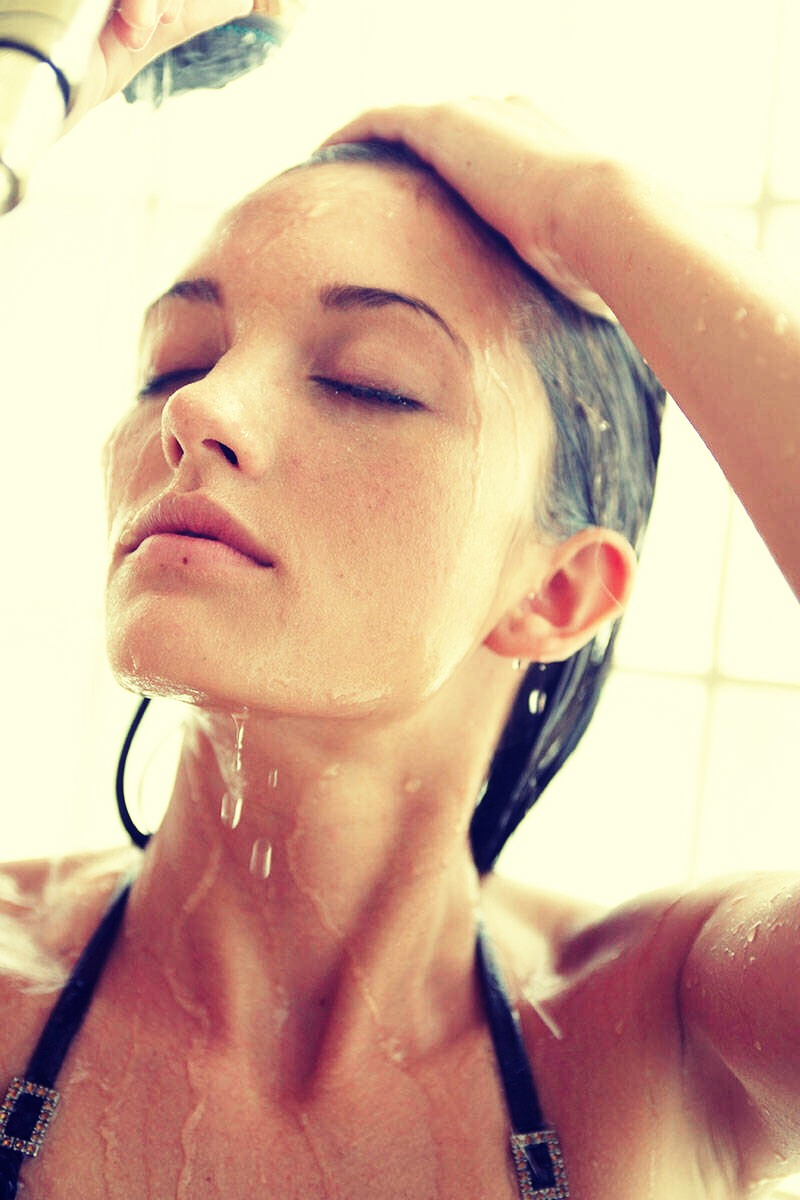 by rinsing your hair In cold water at the end of your shower it makes your hair shinier and easier to brush
