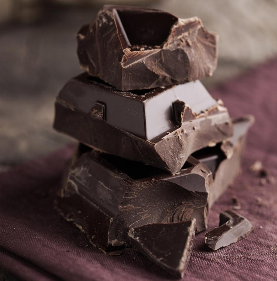 Healthy Habit #10: Indulge in Dark Chocolate Research now shows that eating moderate amounts of dark chocolate can reduce overall body fat and shrink the waist. A study among women with normal weight obesity (skinny fat syndrome) who ate a Mediterranean diet that included two servings of dark