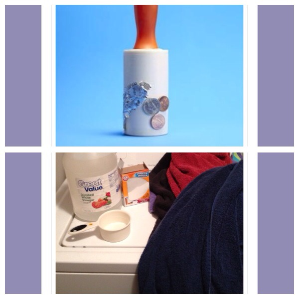 37. Use a lint roller to clean the bottom of your handbag 38. Use 1 cup of white vinegar on a hot cycle then repeat with 1/2 cup of bicarbonate of soda to remove the musty smell on old towels