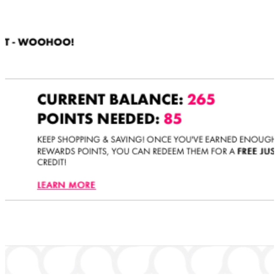 I'm so close to my goal for a free pair of shoes I'm so excited!  :)
