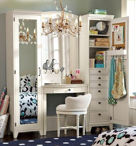 A multi-taskingvanity table that doesn't take up extra room