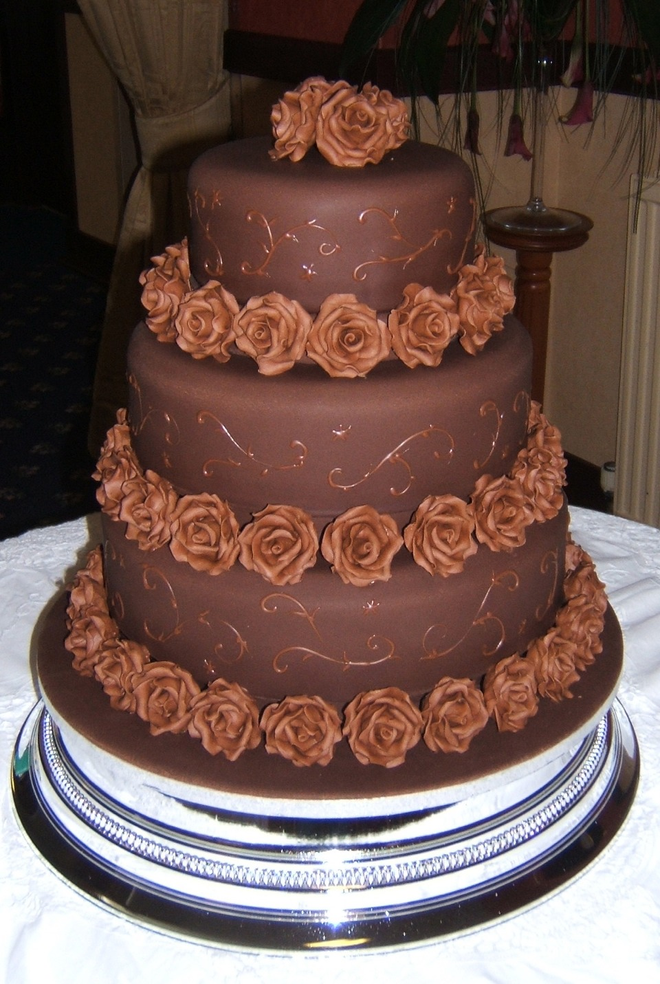 wedding cakes chocolate chocolate wedding cakes musely 24071