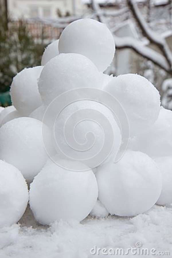 Have fun making snowballs and collect them into a plastic bag and stick the bag into the freezer