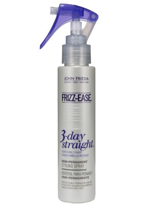 "After dried, use frizz-ease 3-day straight hair protection and flat iron. And you hair is guaranteed to be ""frizzless"" up to 3 days by John Frieda!"