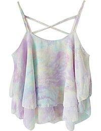 DZT1968(TM)Women Summer Shirts Sleeveless Sling Chiffon Blouses Vest Tops only $4.59 too.