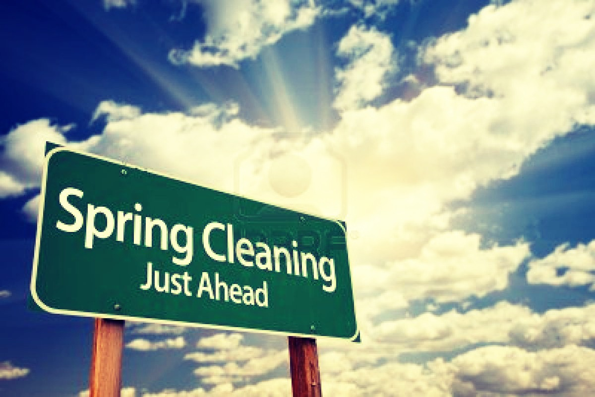 With the spring sneaking up on us, it's time to get ready to get that spring cleaning in. These are a few things that I do every year for my spring cleaning.