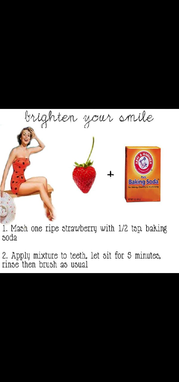 How to Whiten Teeth using Basic home ingredients!♥