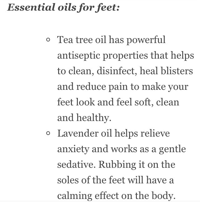 I get my partner to massage my feet after a hard. I personally you lavender and it reminds me of spring and helps de stress..