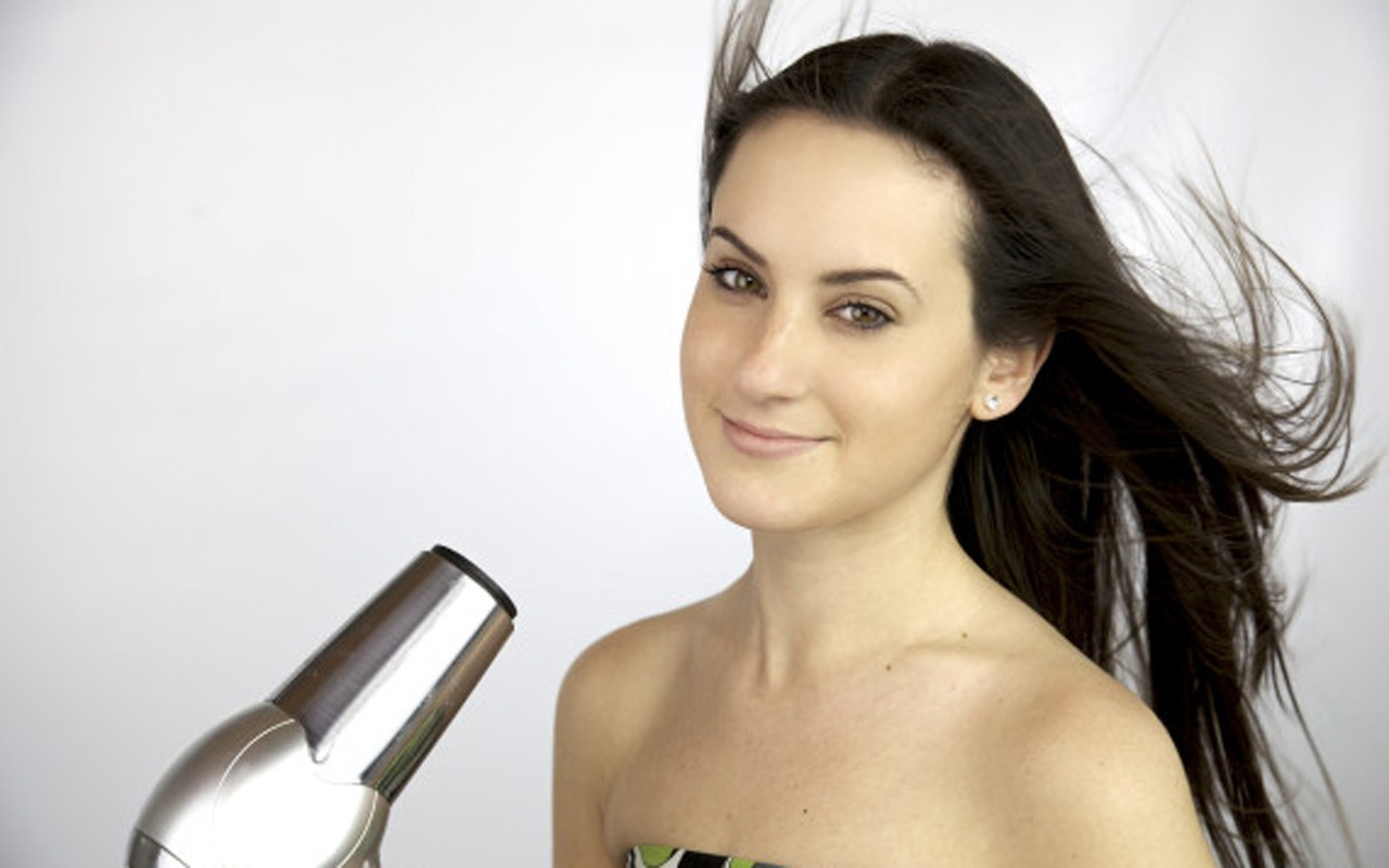 Distance: in the winter it is impossible to not blow dry your hair before going out. To keep that shine use a heat protectant spray and blow dry hair from a safe distance. Don't put the heat right on top of it!