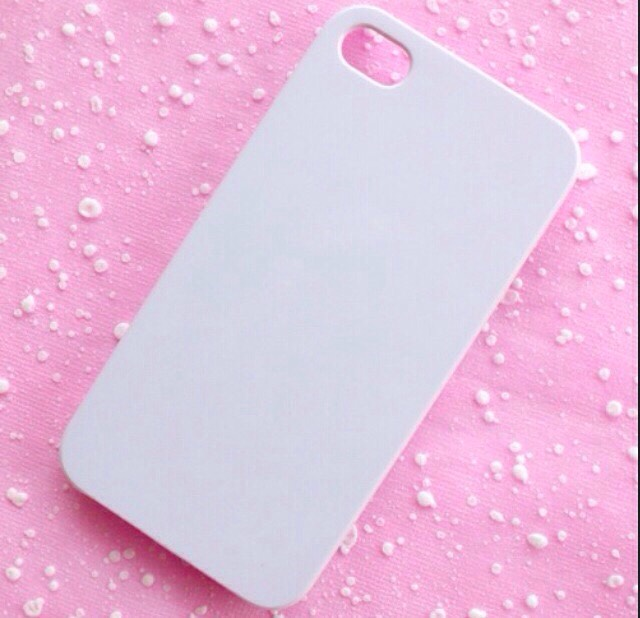 Take a white or clear phone case and put blobs of paint of your choice all over the case