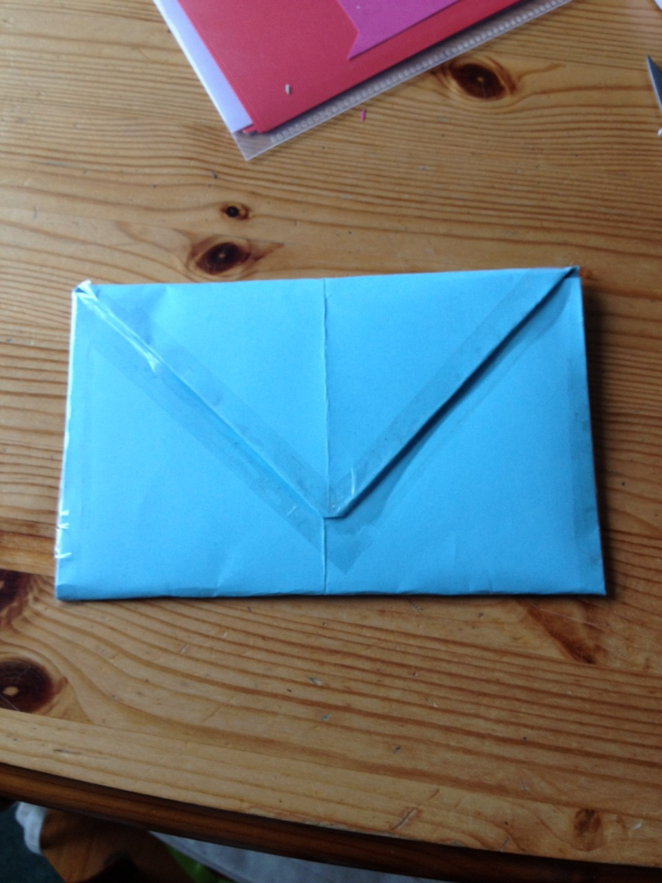 Stick the sides and flap down so that the card is secure and ready to send!