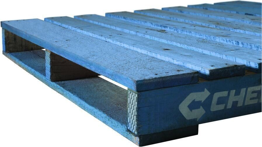 This pallet has a deposit attached to it of $20.  Every time you take a blue pallet from a company without asking, you are stealing $20.