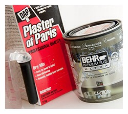 Plaster of Paris Chalk Paint Cost - $6.oo for a large box which will last for a looongtime + cost of latex paint. Time Involved -  Minimal Plaster of Paris at any Lowes, Home Depot, or craft store.   3-5 minutes to measure and mix it thoroughly into the water and paint.