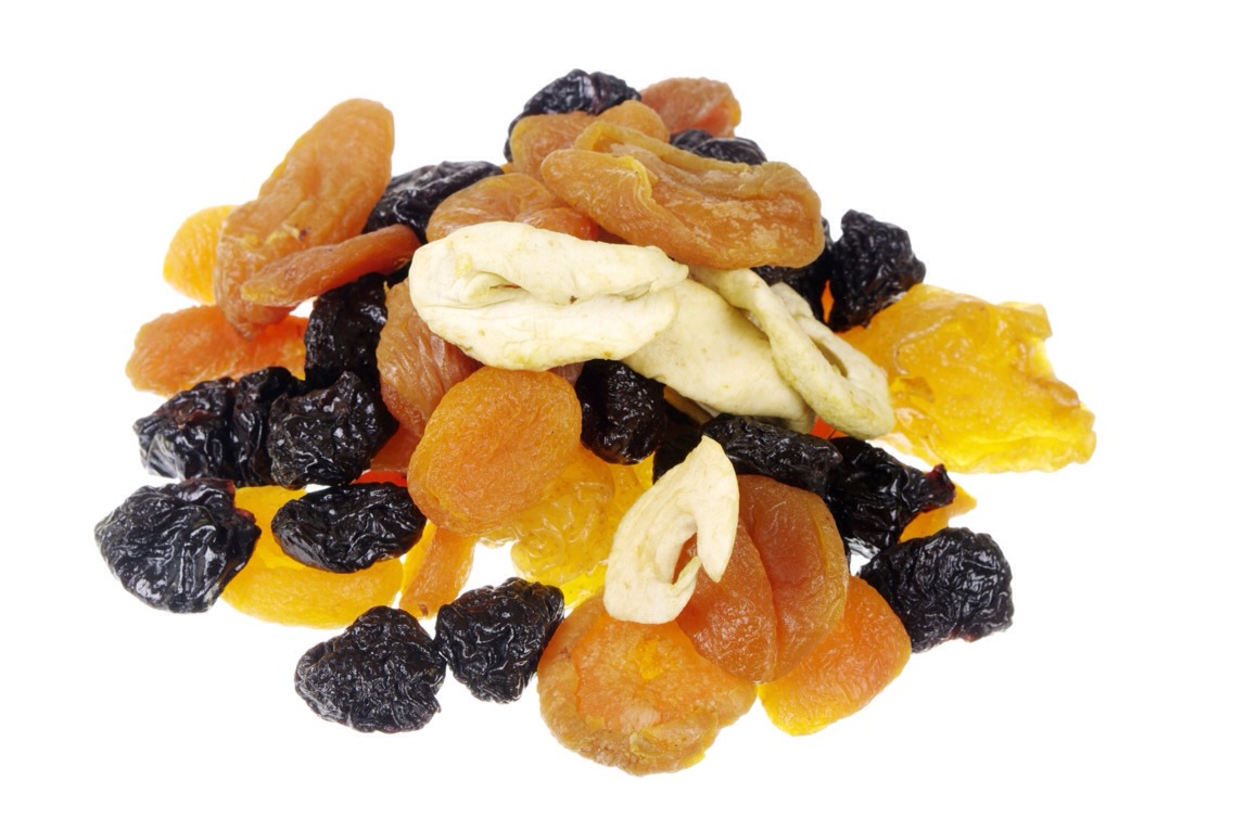 12. Dried Fruit 175 calories  45 g sugars    Eat this instead! Fresh fruit, like an apple or a peach 70 calories  15 g sugars