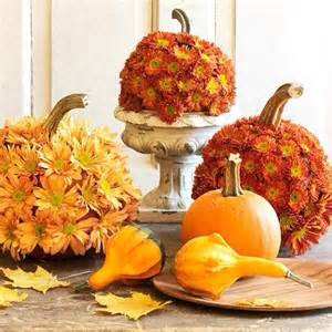Thought this was an adorable idea for a fun fall decoration great tip use fake flowers they are easier to push in and make a starter hole with a ice pick or knife