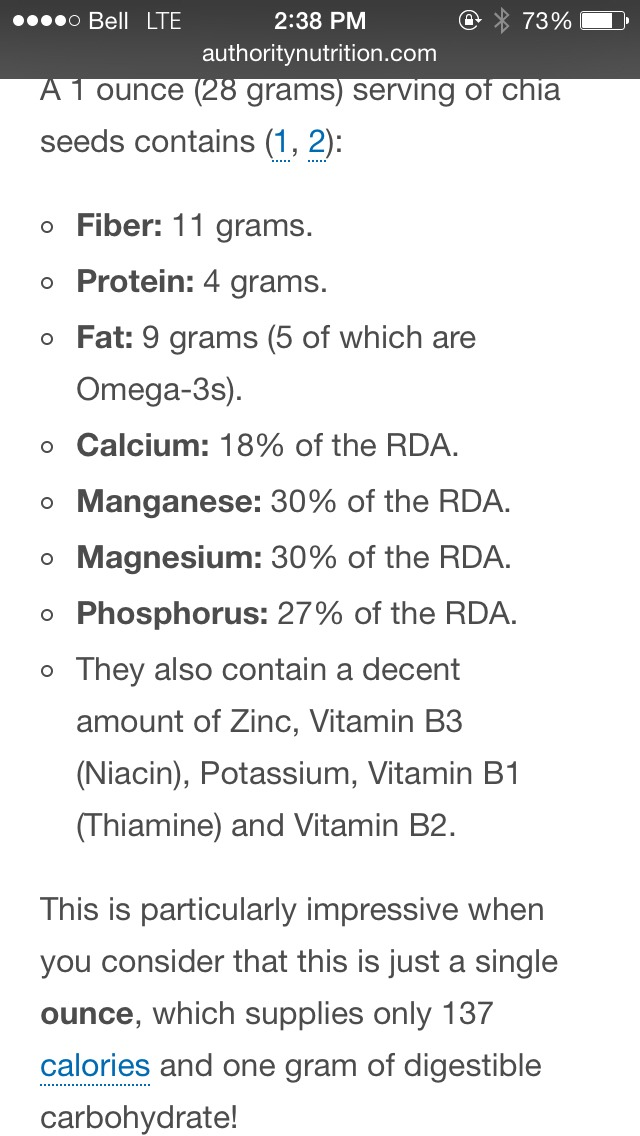 Chia seeds are also loaded with antioxidants