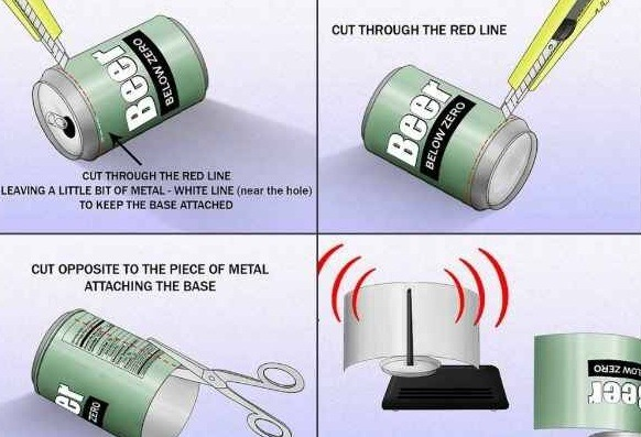 Boost your wifi signal by using an old soda or beer can