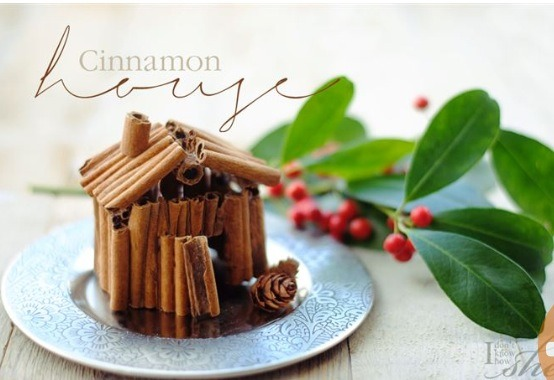 Make an adorable, decorative cinnamon house to put on any piece of furniture!