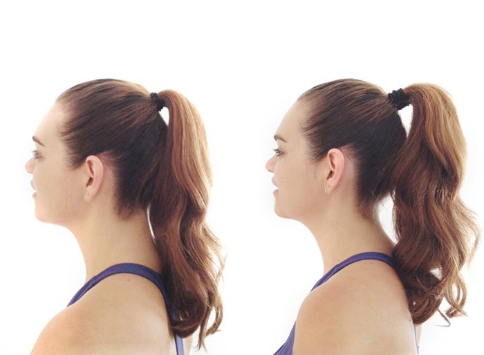 HACK 2  Want a longer looking ponytail? Split your hair into two (or three) sections, keeping more in the top section. Put the ponytail at the top where you want the highest part to be, use the smaller ponytail underneath ensuring the hair from the top covers the band!  This makes your pony longer!