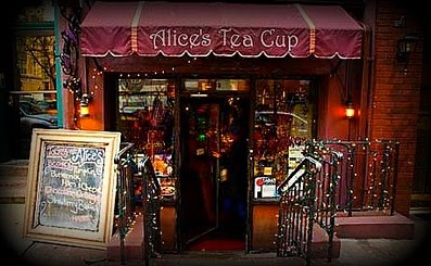 Alice's Tea Cup in Ny, Ny  (Another favorite of mine. It's like you stepped inside the book once you enter)