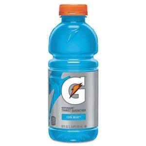 1/4-1/2 bottle of a medium sized BLUE Gatorade Bottle again, BLUE (: