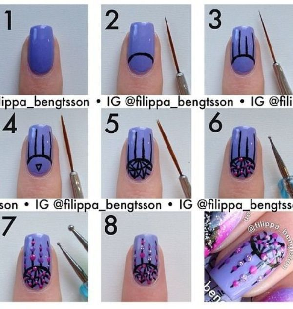 Dream catcher Nail Art Tutorials!!!! by Georgette 💕 - Musely