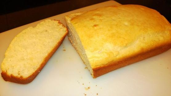 Directions  Stir together ice cream and flour, stirring just until flour is moistened. Spoon batter into a greased and floured 8x4 inches loaf pan.     Bake at 350F for 40-45 minutes or until a toothpick inserted in center of bread comes out clean. Remove from pan, and cool on wire rack.