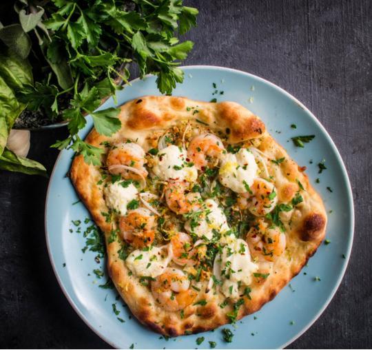 24. Shrimp Scampi Pizza